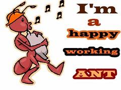 happy working ant