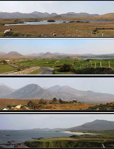 ireland mountains cogalway panoramas roadtrip connemara panos westofireland canon500d twelvepins tamron18270mm glassillaunbeach