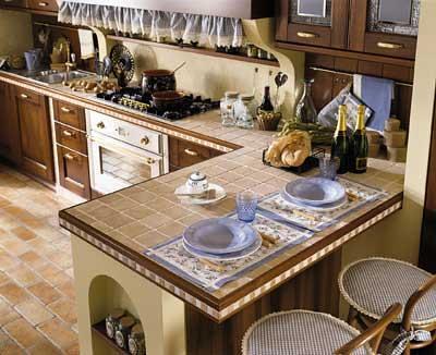 Top in piastrelle di una cucina in muratura spettacolare tu flickr