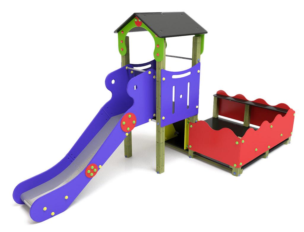 Juego Infantil De Casita Duplex Con Tobogán Y Terraza Flickr