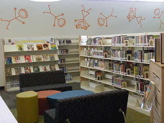 Seating and art work in children's area - Herriman Library, Salt Lake County Library Services | by ellen forsyth