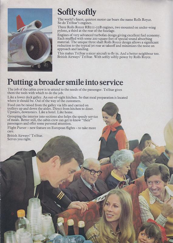 British Airways Tristar brochure from 1974