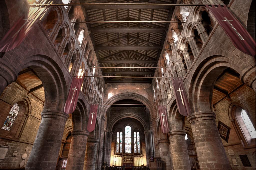 237/1000 - Inside The Church of St  John the Baptist (13x