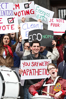 McGill student vote mob 2011 | by Adam Scotti