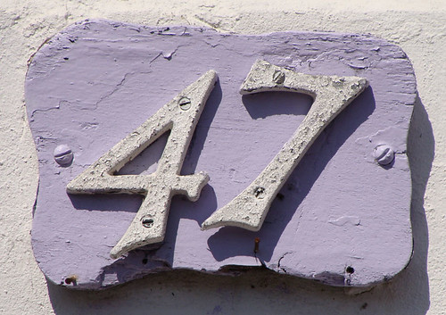 No 47 - white on lilac | by kirstyhall