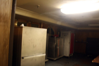 Queen Mary - Covert Shot of Some of What Remains of Library - Now Service Area for Banquet Room | by Miss Shari