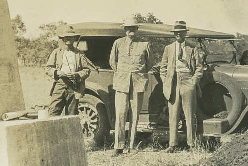 June 26th 1927 - PM Durack MP Durack Sir William Campion at the Kimberley Obelisk