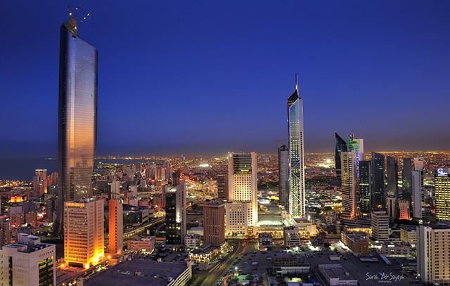 Kuwait City Sunset Reflection