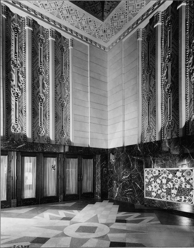 PICKWICK LOBBY 1929 CHICAGO ARCHITECTURAL PHOTOGRAPHING CO