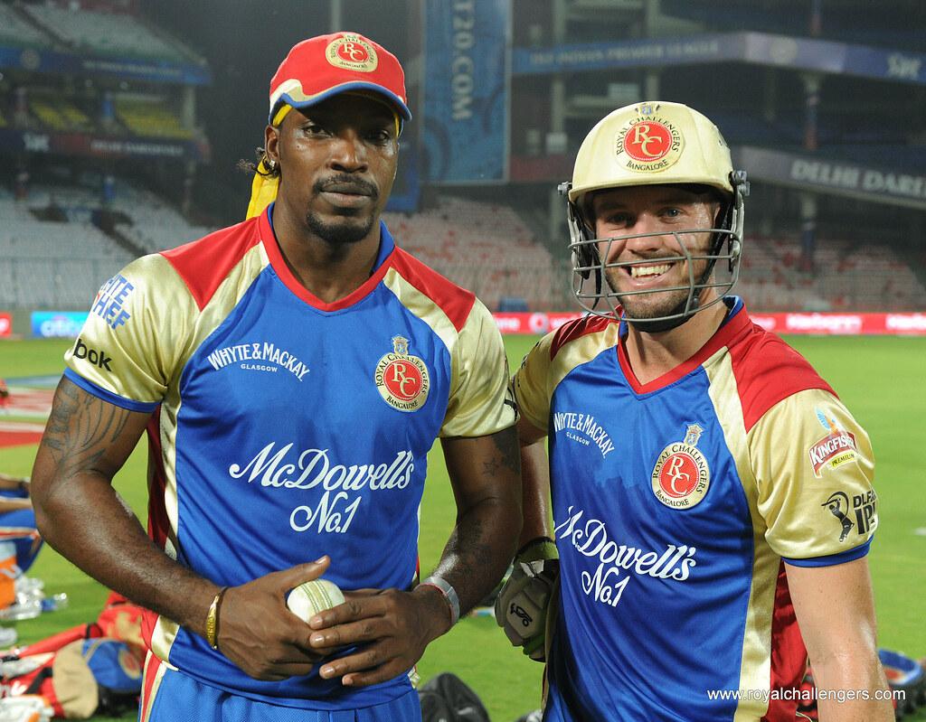 Two biggest power-hitters Chris Gayle and Abraham Benjamin de Villiers