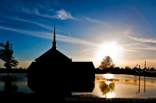 county sunset paris adam church digital canon eos flooding flood kentucky ky dslr 2011 40d owenboro daivess ©2011