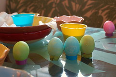 Easter eggs with the neighbors