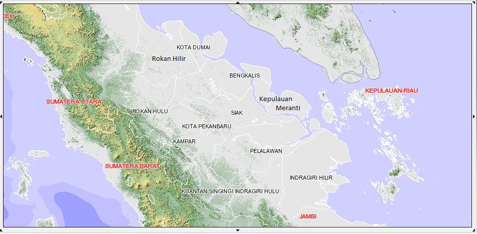 Peta Batas Kabupaten Dan Kota di Provinsi Riau (RIAU MAP ...