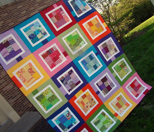 Scrappy Rainbow Quilt | by sewcraftyjess