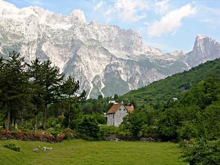 Farmhouse & the Accursed Mountains, Thethi Village, Albania | by David&Bonnie