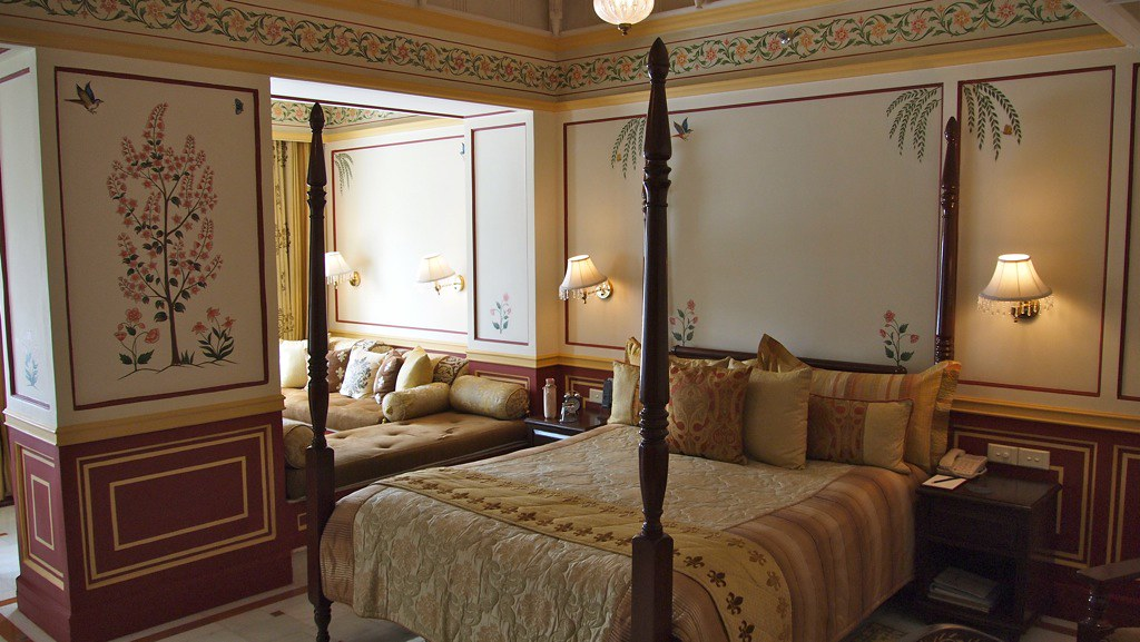Amazing room ambience of Taj hotels in Udaipur