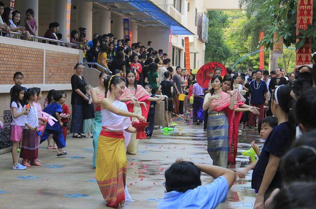 Songkran Parade at Varee Chiang Mai School