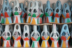 Colourful frankincense burners from Yemen