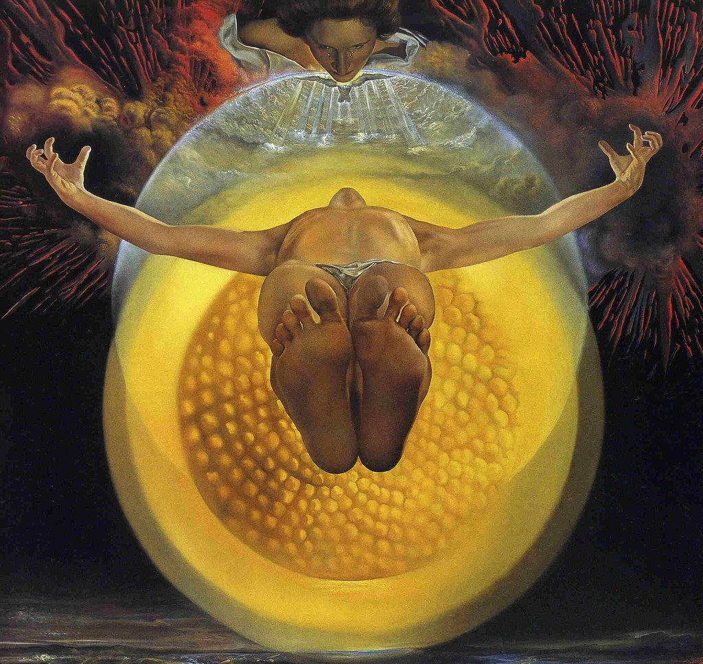 Image result for the ascension of christ fine art dali