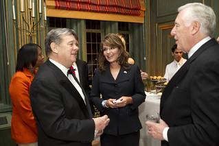 John Coale, Sarah Palin, and House Minority Leader Steny Hoyer | by Haddad Media