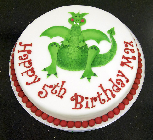 BC4063 - dragon kids birthday cake toronto
