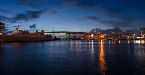 nahashi okinawaken japan jp tomari port panorama night water lights bridge sky sunset okinawa nikon d7000 sigma f28g 1750mm