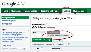 HOW TO: Redeem a $75 Google AdWords Code When You Already … | Flickr
