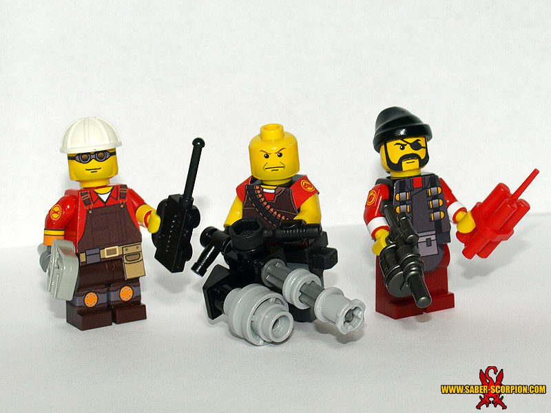 LEGO TF2: Engineer, Heavy, Demoman | The Defensive classes: … | Flickr