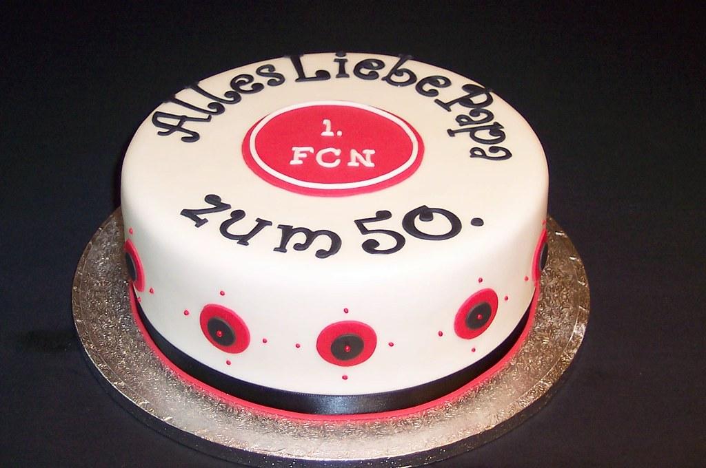 Geburtstagskuchen 1 Fcn Birthday Cake Zum 50 Sten Gebur Flickr