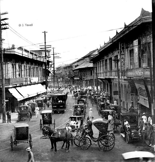 Escolta, the principal business street of Manila, Philippines, early 20th century