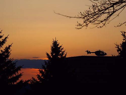 sunset minnesota silhouette sundown rochester helicopter stmarys airambulance stmaryshospital mayoone explorehighest242 lostplateau