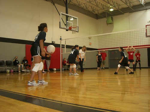 Emily's YMCA Volleyball Game 4-23-11   by Mike Overall