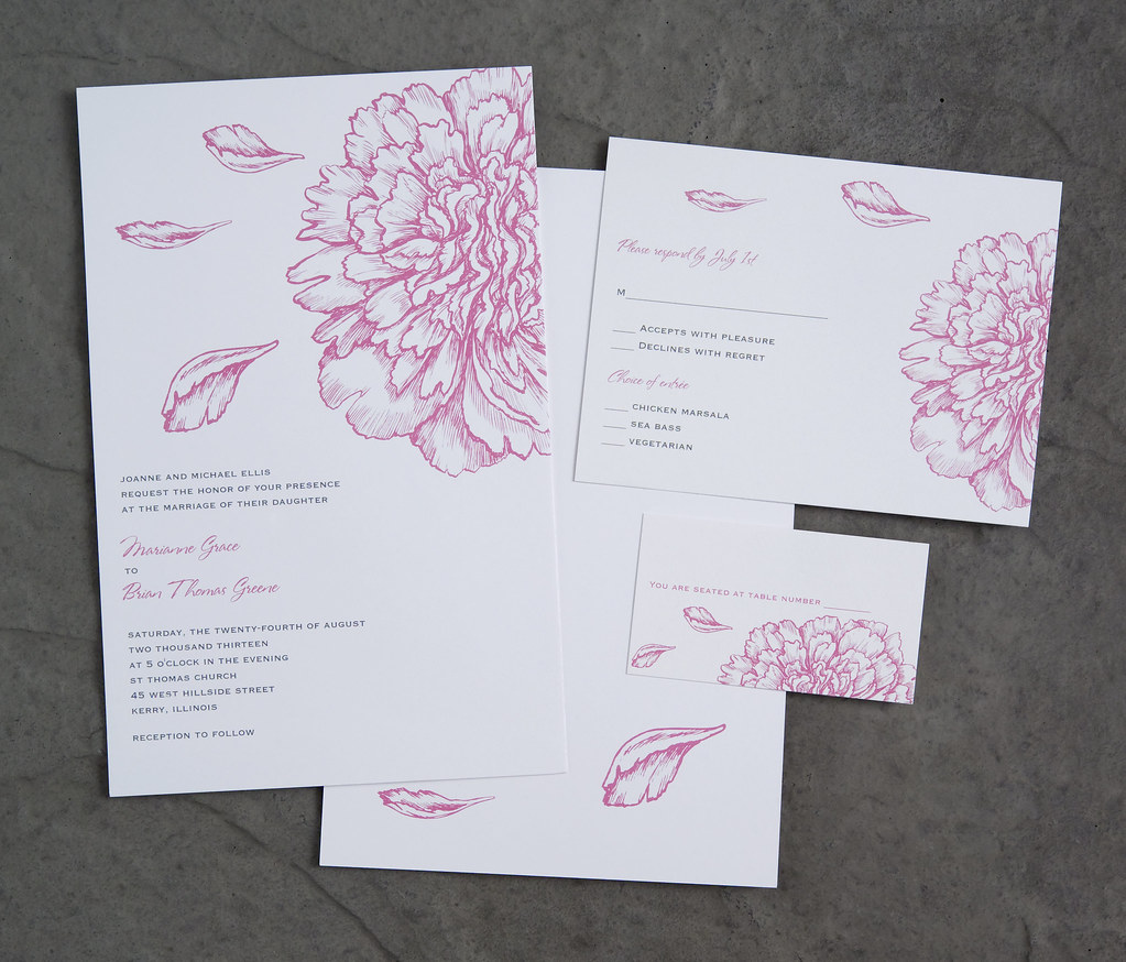 Wedding Invitations Vistaprint.Vistaprint Wedding Invitation Pink Flowers 2 Vistaprint