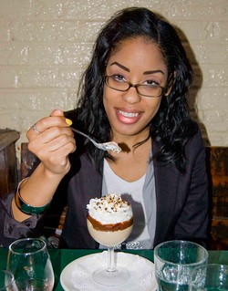 Adia eats dessert at Jules April 29, 2011 | by bigredpenguin
