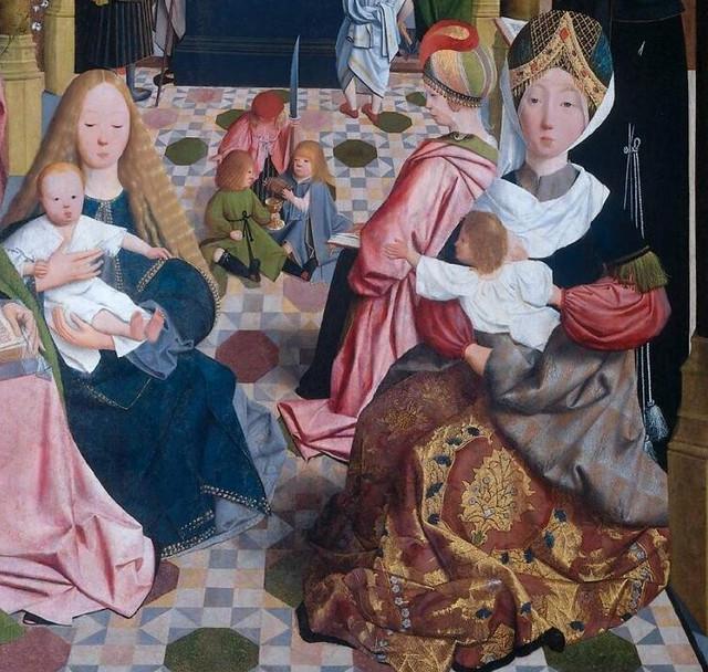 Geertgen tot Sint Jans - The holy kinship, detail 2 (1490) - Amsterdam Rijksmuseum