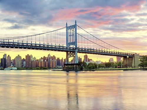 bridge sunset color day cloudy eastriver mta hdr longislandsound rfk triboro triborobridge triboroughbridge rfkbridge robertfkennedybridge