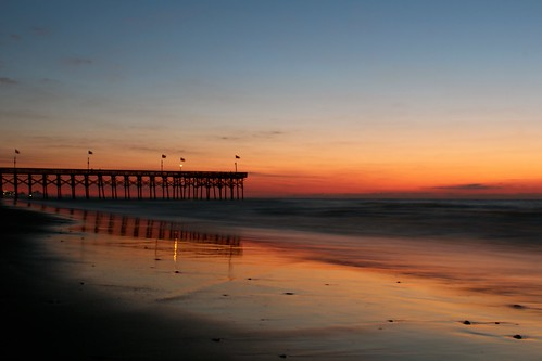 morning beach sc sunrise myrtlebeach pier am southcarolina 1855mm 600d canonrebelt3i