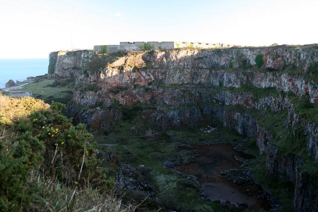 Old quarry at Berry Head, Brixham