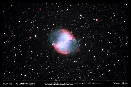 NGC6853 The Dumbbell Nebula 27 Jun 2015 (TIF) | by SkySlab