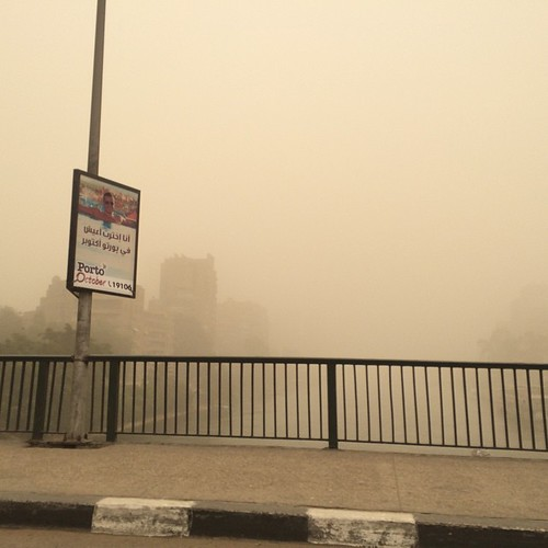 No effects. This is how the sandstorm look like in #Cairo today. #Egypt #Citizenjournalism #Blogger #Egyweather | by Kodak Agfa