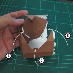 วิธีทำโมเดลกระดาษตุ้กตา คุกกี้สาวผู้ร่าเริง จากเกมส์คุกกี้รัน (LINE Cookie Run – Bright Cookie Papercraft Model) 007