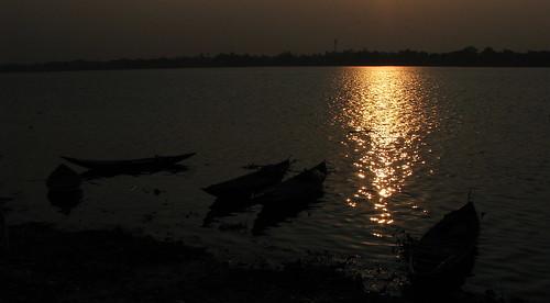 sunset kolkata westbengal riverganga easternindia khardah