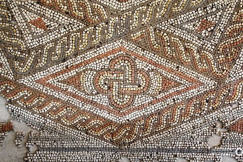 Fishbourne Roman Palace - Mosaic Detail   by Hexagoneye Photography