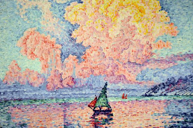 Paul Signac - Antibes, The Pink Cloud at Boston Museum of Fine Arts