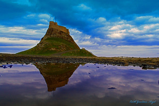 Reflection Lindisfarne Castle | by Photography is the story I fail to put into words