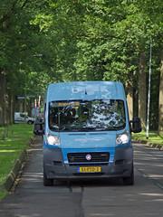 Bus onder bladerdak