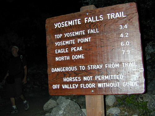 Yosemite Falls Hike: 7 mi RT = 7 hrs