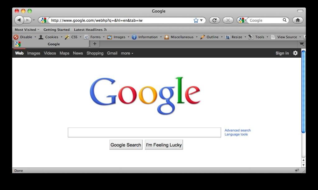 Black Google navigation bar | Abraham Williams | Flickr