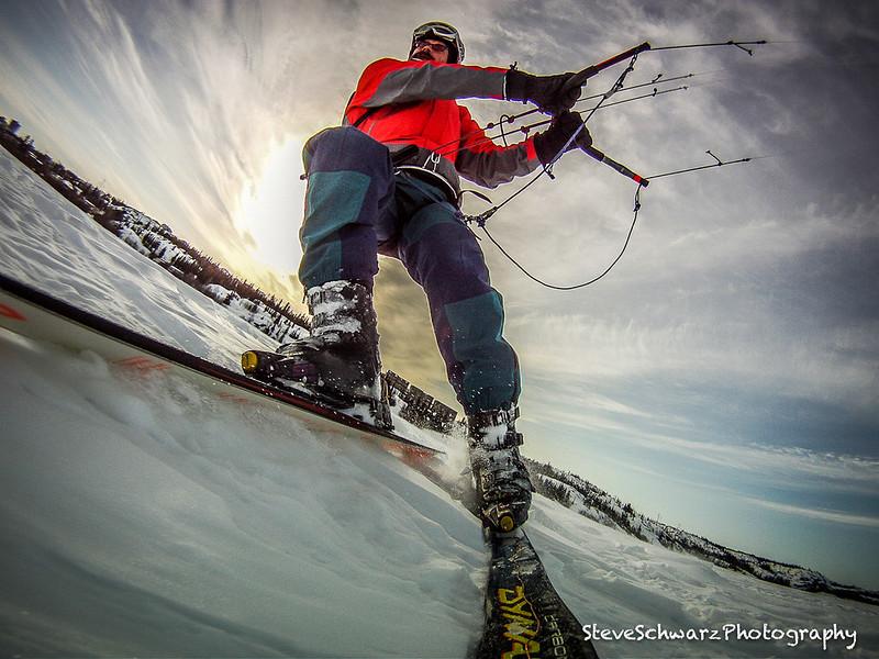 Kite Skiing in mush !