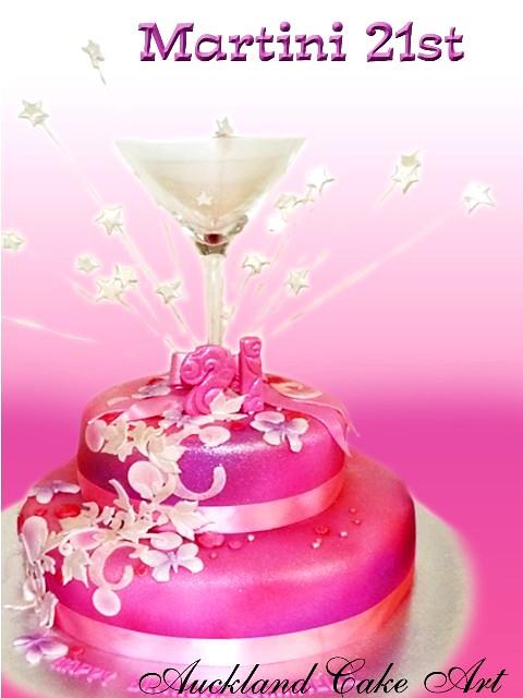 Astonishing Martini 21St Birthday Cake Martini Glass 21St Birthday Cak Flickr Personalised Birthday Cards Xaembasilily Jamesorg